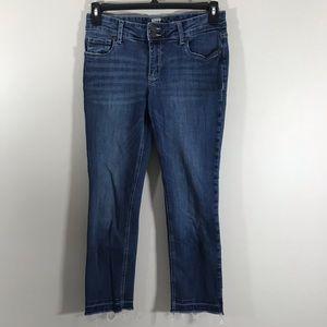 Kut from the Kloth raw hem medium wash jeans 6